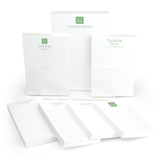 Square Initial Notepad Collection