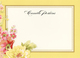 Yellow Rose Flat Correspondence Cards Image 4 of 4