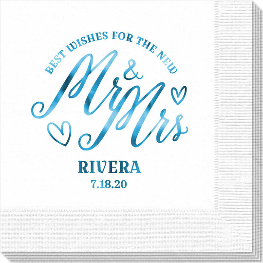 Mr. and Mrs. Best Wishes Napkins