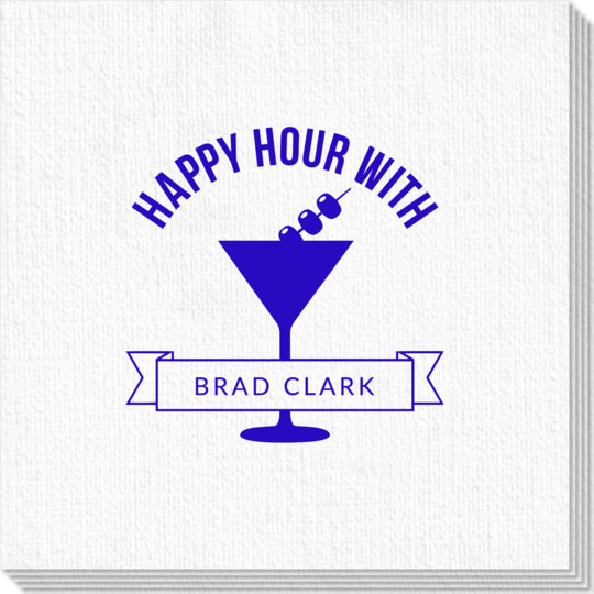 Happy Hour Martini Luxury Deville Napkins