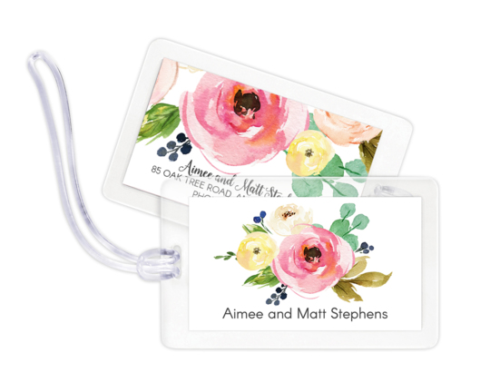 Rose Bunch Luggage Tags