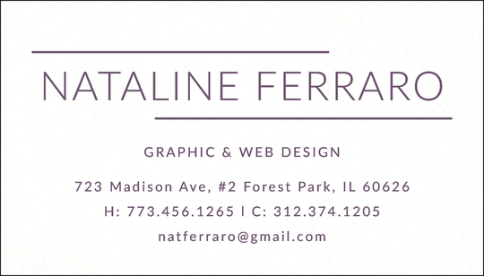 Double Line Letterpress Contact Cards