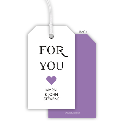 Lilac For You Heart Hanging Gift Tags