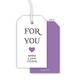 Lilac For You Heart Hanging Gift Tags Image 1 of 3