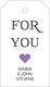 Lilac For You Heart Hanging Gift Tags Image 3 of 3