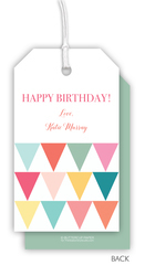 Colorful Pennants Hanging Gift Tags