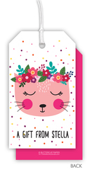 Floral Kitten Hanging Gift Tags