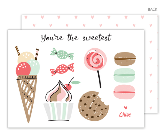 You're the Sweetest Valentine Exchange Cards