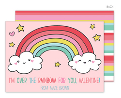 Over the Rainbow Valentine Exchange Cards