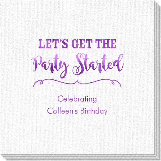 Let's Get the Party Started Luxury Deville Napkins