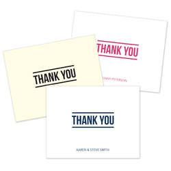 Bold Thank You Folded Note Cards