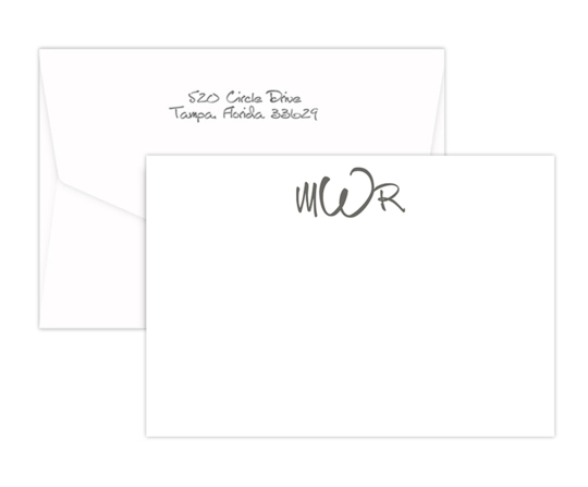 Triple Thick Wheaton Flat Note Cards