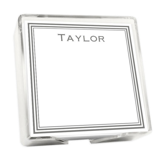 Colonial Memo Square with Holder