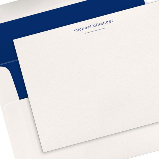 Underlined with Choice of Typeface Letterpress Flat Note Cards