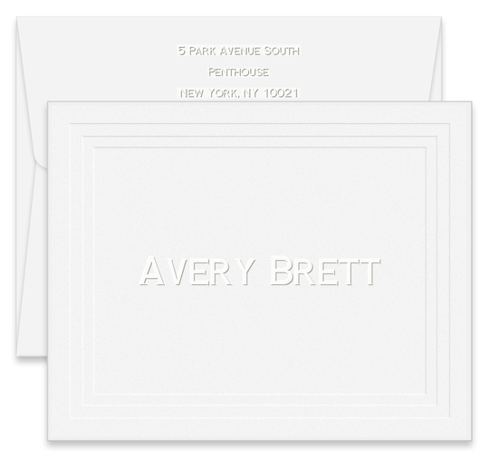 Embossed Tradition Folded Note Cards