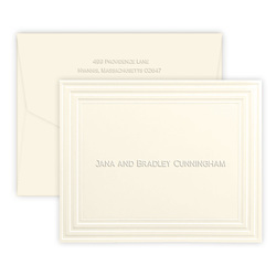 Embossed Embassy Folded Note Cards