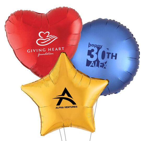 Custom with Your 1-Color Mylar Balloons