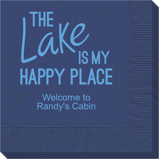 The Lake is My Happy Place Napkins