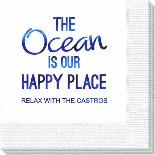 The Ocean is Our Happy Place Napkins
