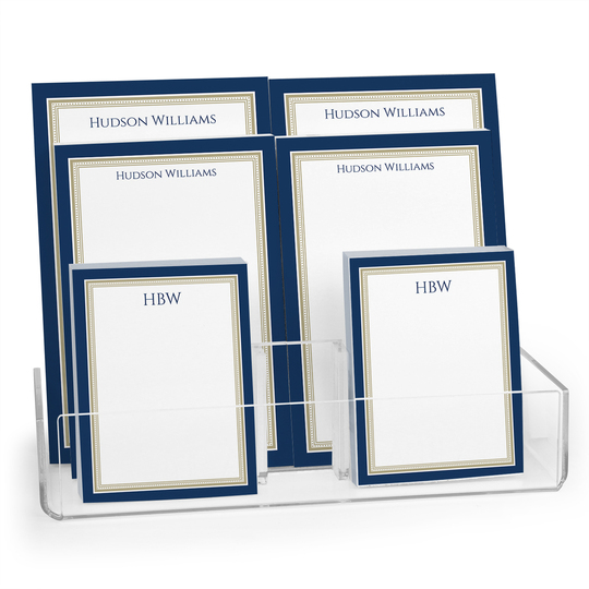 Classic Navy Border Notepad Collection