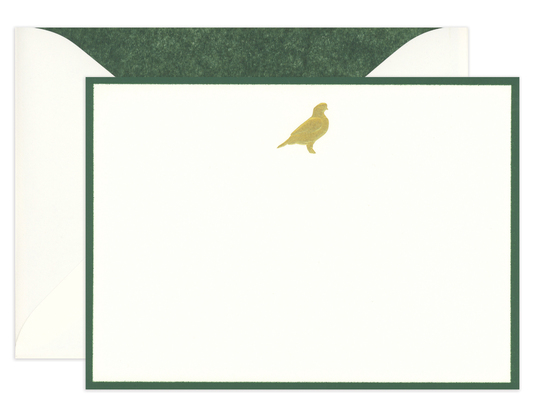 Engraved Quail Boxed Note Cards