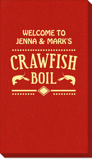 Crawfish Boil Linen Like Guest Towels