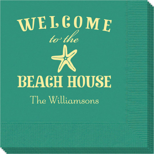 Welcome to the Beach House Napkins