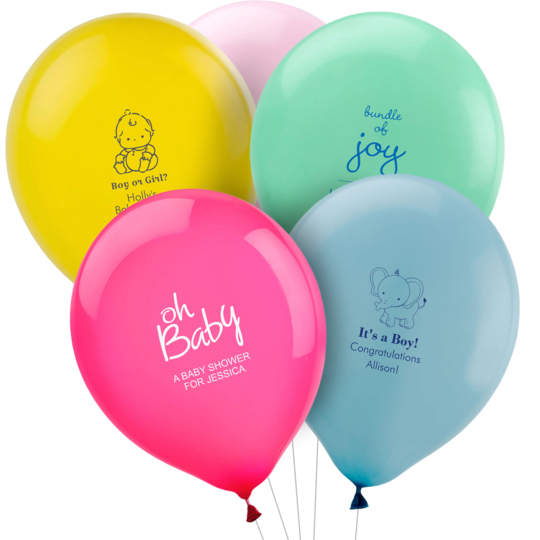 Personalized Baby Shower Latex Balloons