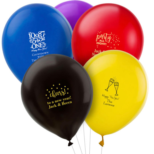 Personalized New Year's Eve Latex Balloons