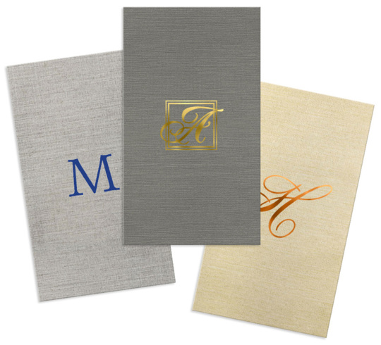 Design Your Own Single Initial Bamboo Luxe Guest Towels