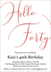 Hello Forty Foil Birthday Invitations Image 6 of 8