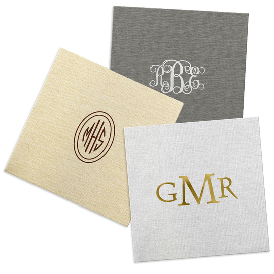 Design Your Own Monogram Bamboo Luxe Napkins