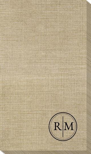 Petite Dotted Circle Duogram Bamboo Luxe Guest Towels