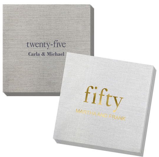 You Create Your Big Number Bamboo Luxe Napkins
