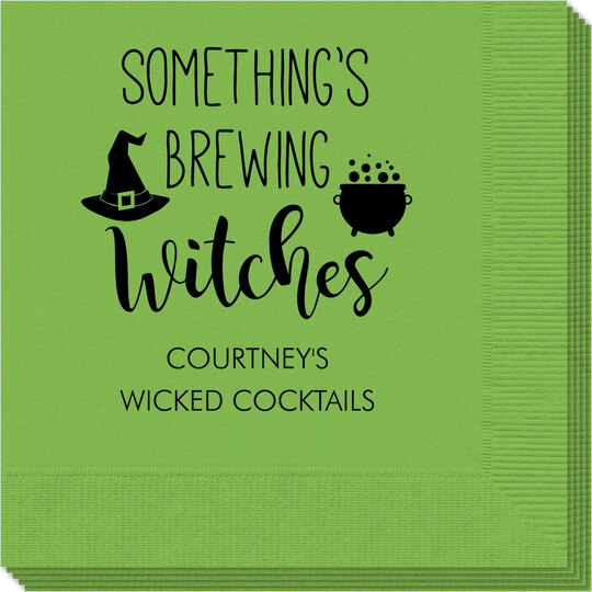 Something's Brewing Witches Napkins