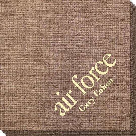 Big Word Air Force Bamboo Luxe Napkins