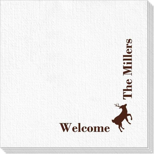 Corner Text with Deer Park Design Deville Napkins