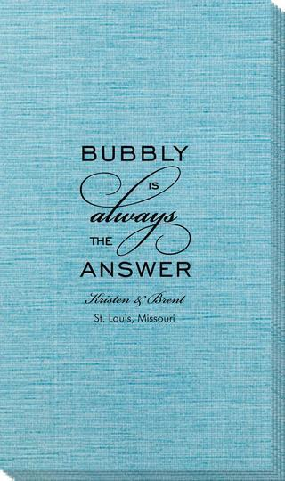 Bubbly is the Answer Bamboo Luxe Guest Towels