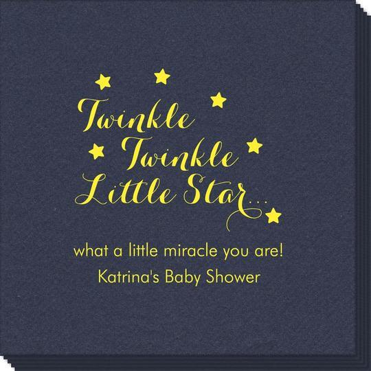Twinkle Twinkle Little Star Linen Like Napkins