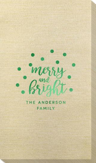 Confetti Dots Merry and Bright Bamboo Luxe Guest Towels