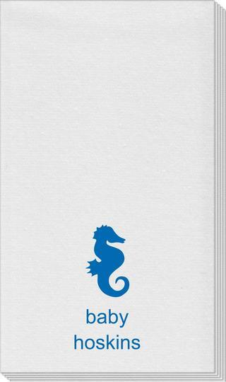 Seahorse Linen Like Guest Towels