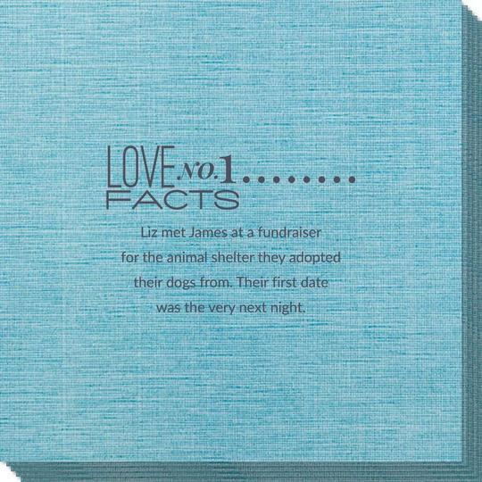 Just the Love Facts Bamboo Luxe Napkins