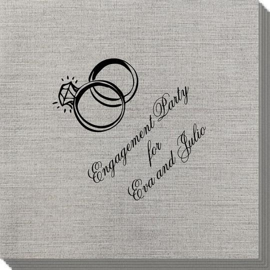 Wedding Rings Bamboo Luxe Napkins