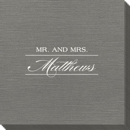 Mr. and Mrs. Bamboo Luxe Napkins