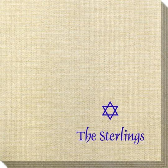 Little Star of David Bamboo Luxe Napkins