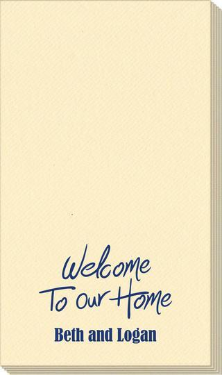 Fun Welcome to our Home Linen Like Guest Towels