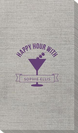 Happy Hour Martini Bamboo Luxe Guest Towels