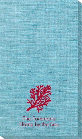 Coral Reef Bamboo Luxe Guest Towels