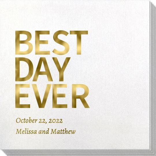 Bold Best Day Ever Bamboo Luxe Napkins
