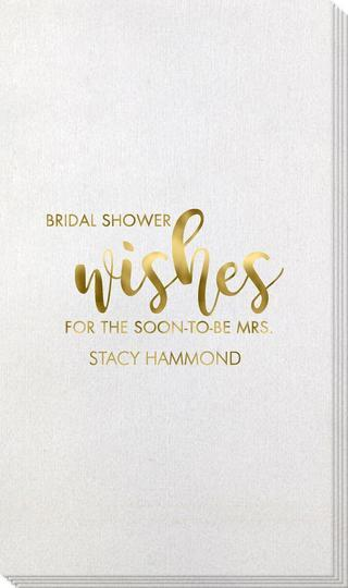 Bridal Shower Wishes Bamboo Luxe Guest Towels